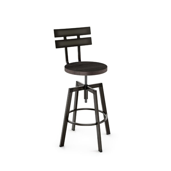 Ishani Adjustable Height Bar Stool by 17 Stories 17 Stories