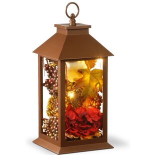 Harvest Arrangement in LED Lamp with Hanging by The Holiday Aisle