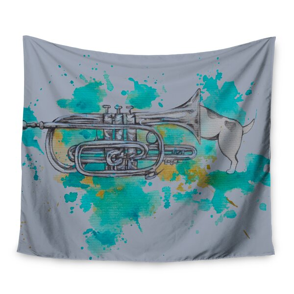 Hunting For Jazz by Kira Crees Wall Tapestry by East Urban Home