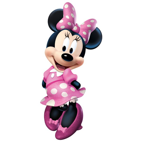 Popular Characters Mickey and Friends Minnie Bowtique Giant Wall Decal by Room Mates
