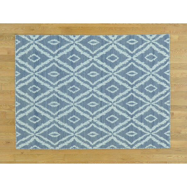 One-of-a-Kind Bostwick Reversible Handmade Kilim Grey Wool Area Rug by Isabelline