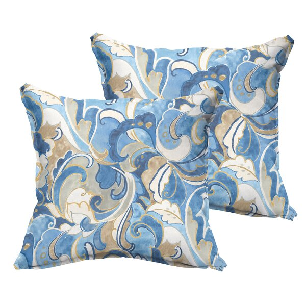 Betty Flange Indoor/Outdoor Throw Pillow (Set of 2) by Latitude Run