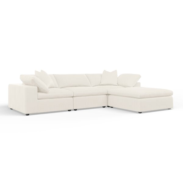 Cameron Reversible Modular Sectional with Ottoman by Wayfair Custom Upholstery™