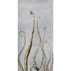 'Octopus Diptych' by Eli Halpin Painting Print on Canvas by GreenBox Art