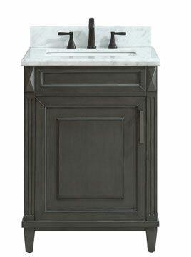 Potvin Marble Top 25 Single Bathroom Vanity Set by Gracie Oaks