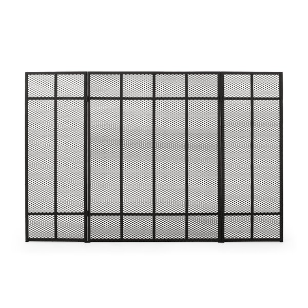 Burlington 3 Panel Iron Fireplace Fireplace Screens By Home Loft Concepts