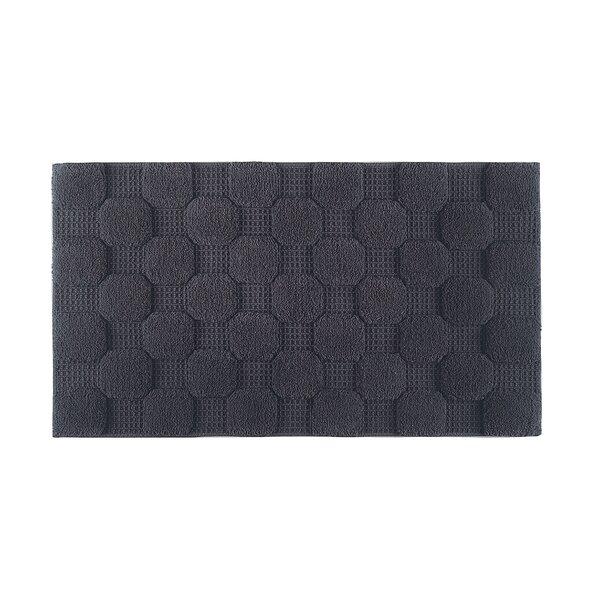 Hizer Chess 100% Cotton Non-Slip Geometric Bath Rug