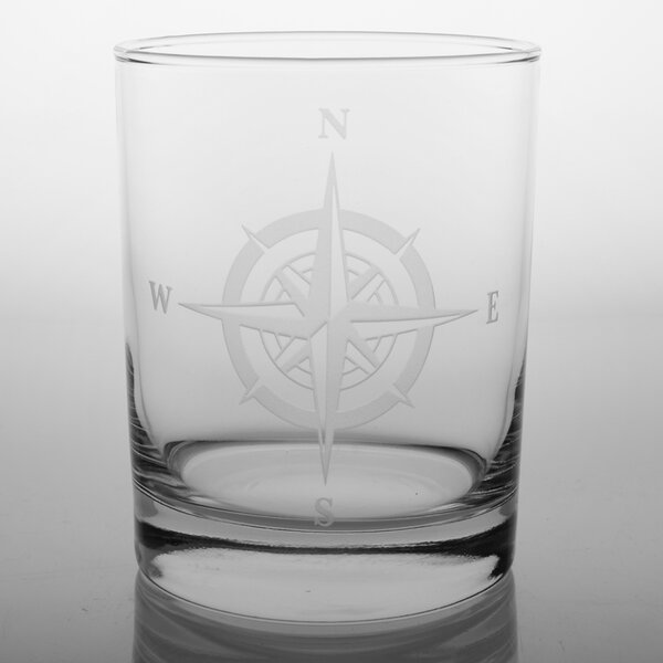 Compass Rose Double Old Fashioned Glass (Set of 4) by Rolf Glass