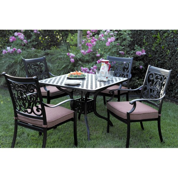 Mccraney 5 Piece Dining Set with Cushions by Astoria Grand