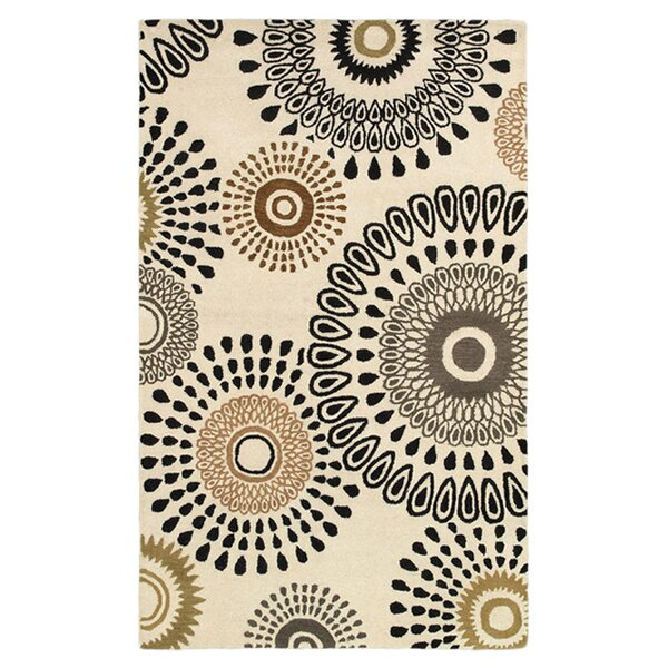 Aires Hand-Tufted Beige Area Rug by Meridian Rugmakers