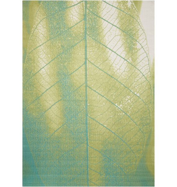 Adamov Green Floral and Plants Indoor/Outdoor Area Rug by Latitude Run