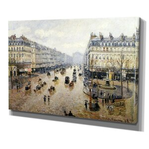 Avenue de Opera Rain by Camille Pissarro Graphic Art on Wrapped Canvas by Wexford Home