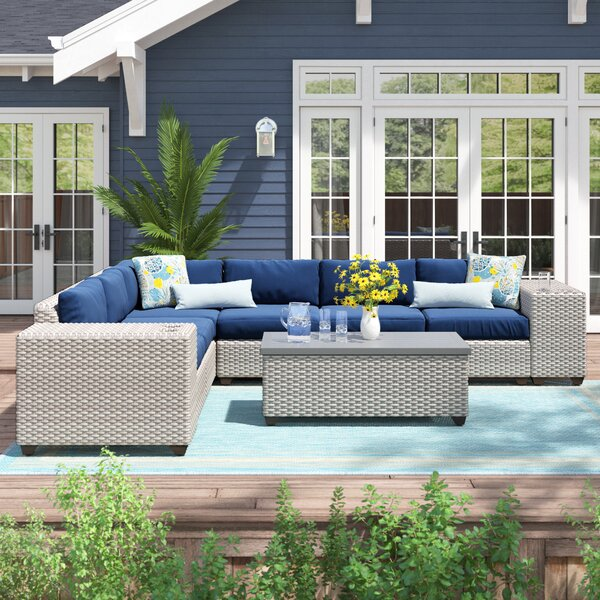 Merlyn 9 Piece Sectional Seating Group with Cushions