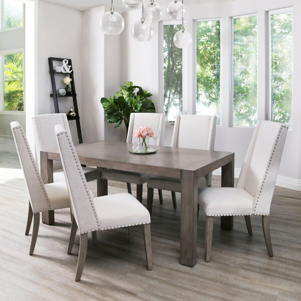 Averi Acacia 7 Piece Dining Set by Gracie Oaks