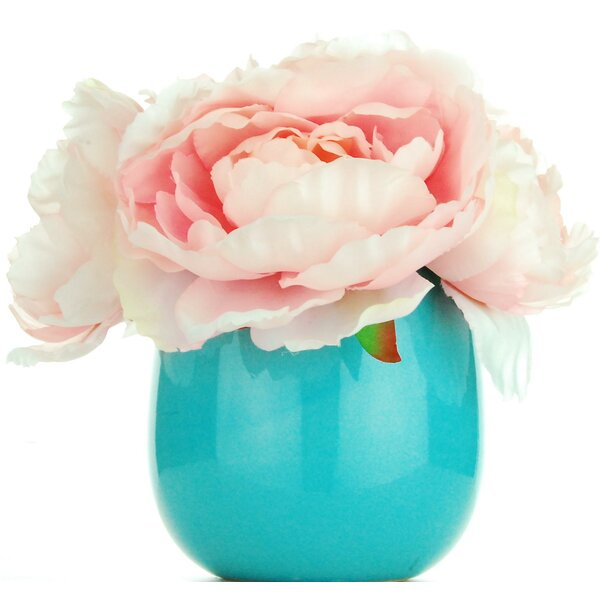 Large Peonies Floral Arrangement by House of Hampton