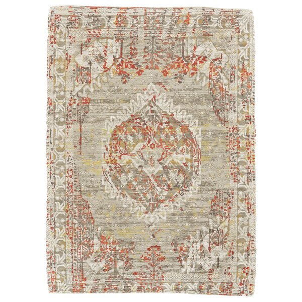 Ricard Hand-Woven Gray/Beige Area Rug by Charlton Home