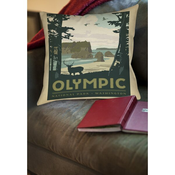 Olympic Printed Throw Pillow by Manual Woodworkers & Weavers