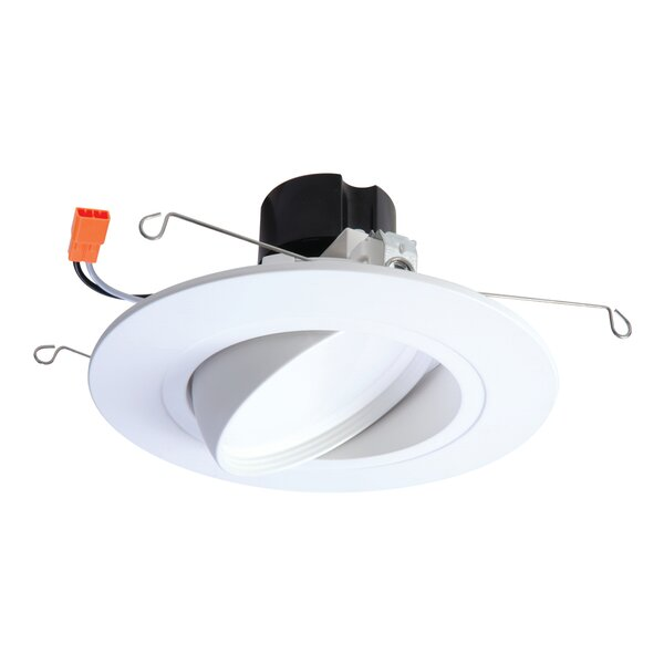 Integrated LED Narrow Flood Adjustable 6 Gimbal Ring Recessed Trim by Halo