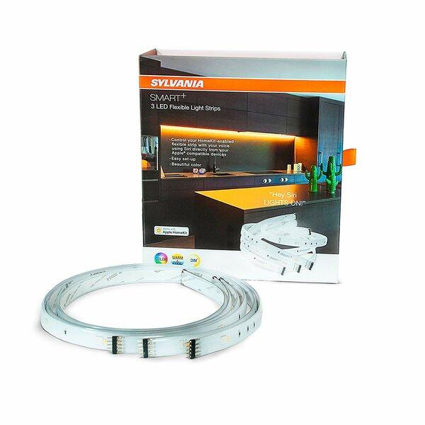 6 Foot Indoor Smart LED Flex Light Strip, Full Color, Apple Homekit Compatible by Sylvania SMART+
