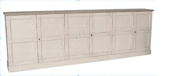Luciana Wood 6 Door Accent Cabinet by Sarreid Ltd