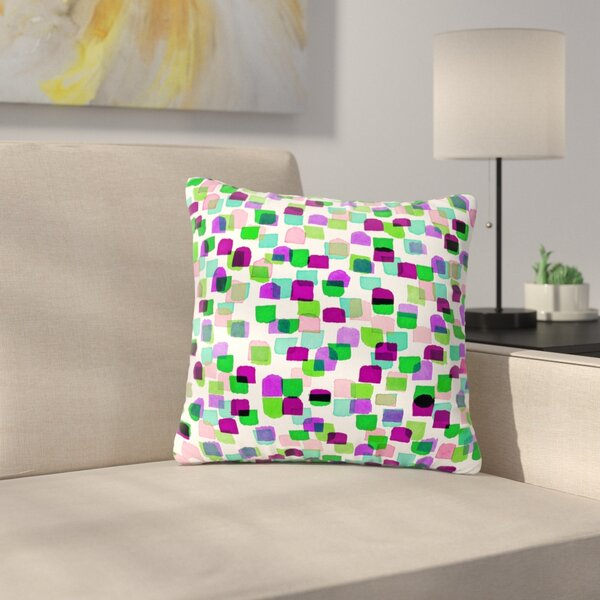 Ebi Emporium Retro Mod Dots 3 Outdoor Throw Pillow by East Urban Home