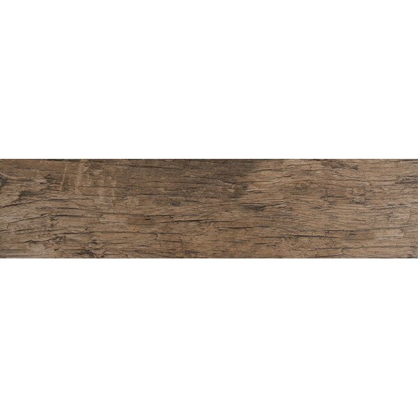 Redwood Natural 6 x 36 Porcelain Wood Tile in Glazed Textured by MSI
