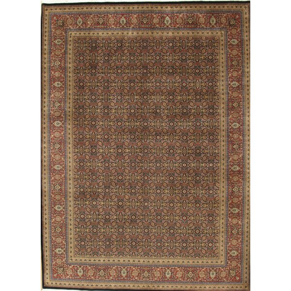 Tabriz Hand-Knotted Brown Area Rug by Pasargad