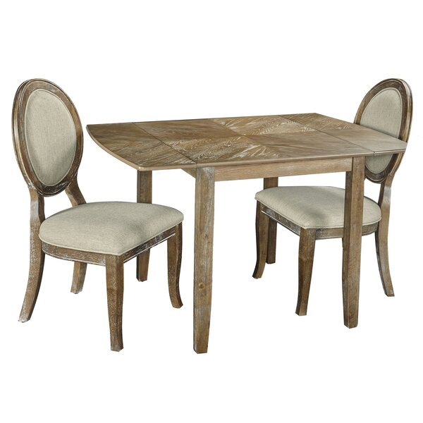 Braun 3 Piece Drop Leaf Dining Set by Ophelia & Co.