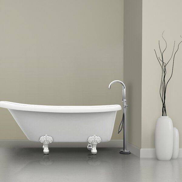 Prima Single Handle Floor Mount Bathtub Faucet with Shower Wand by Ancona