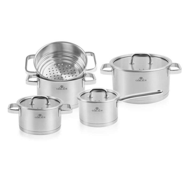 Maximahouse Prestige 9 Piece Stainless Steel Cookware Set Wayfair