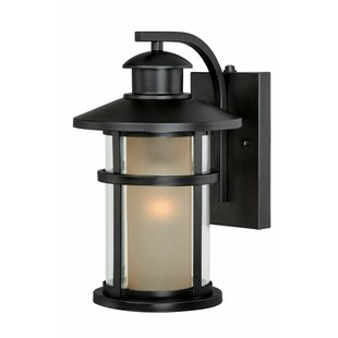 Top Reviews Enger 1-Light Outdoor Wall Lantern By Breakwater Bay