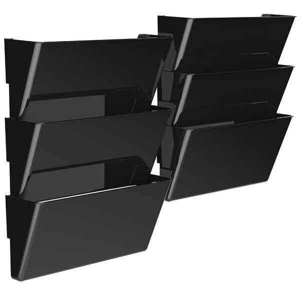 Unbreakable Legal Wall File (Set of 6) by Storex