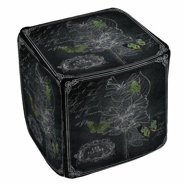 Chalkboard Botanical Pouf by Manual Woodworkers & Weavers
