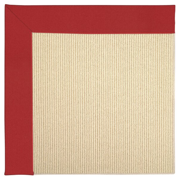 Lisle Machine Tufted Red/Beige Indoor/Outdoor Area Rug by Longshore Tides