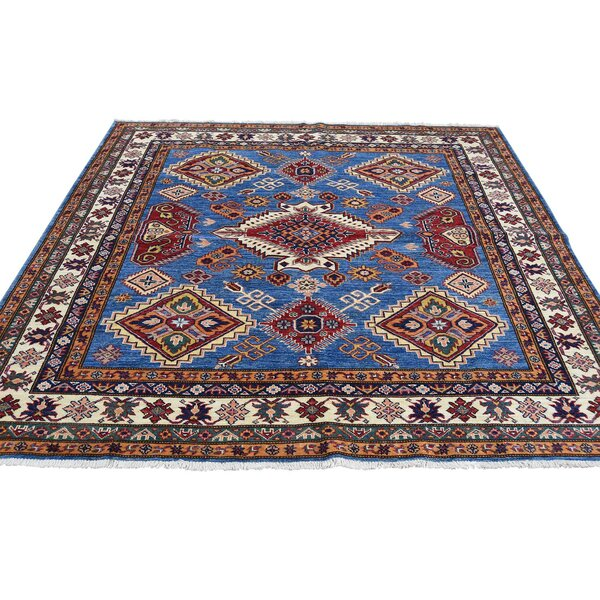 One-of-a-Kind Espada Super Oriental Hand-Knotted Blue Area Rug by Millwood Pines