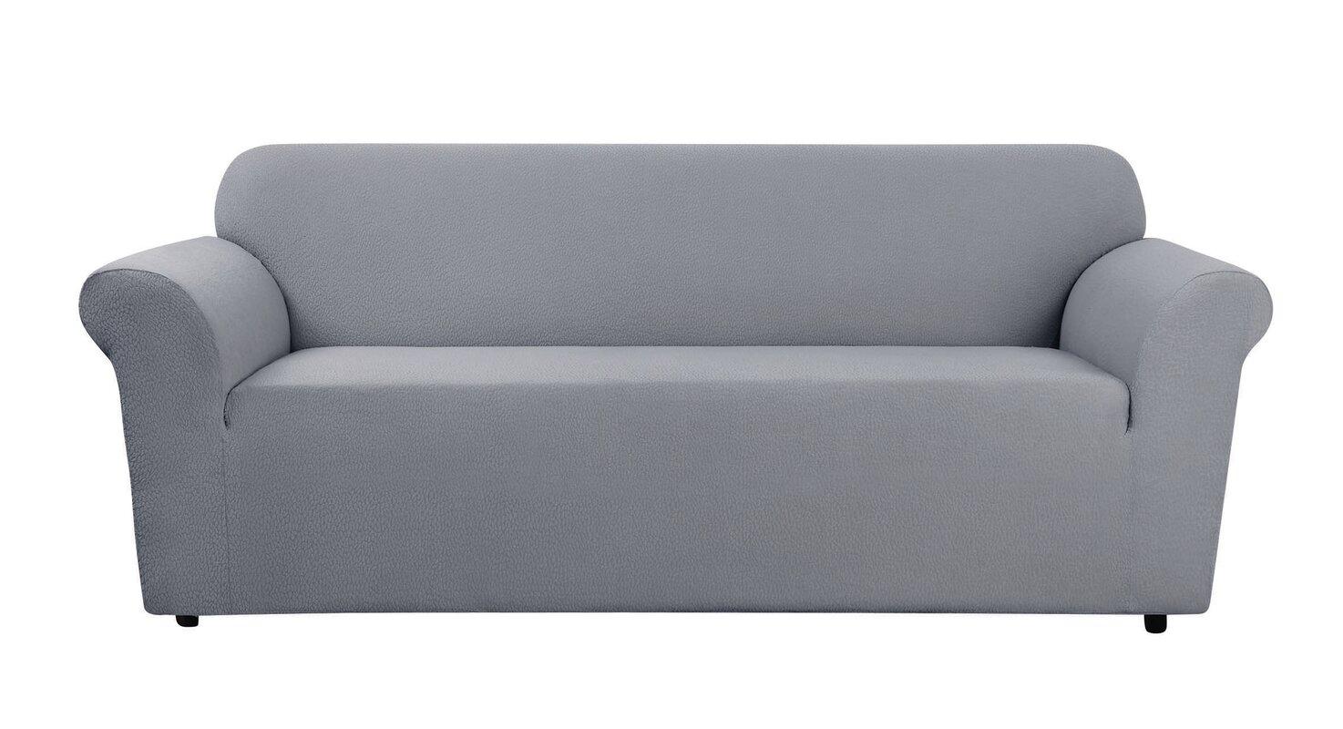 Stretch Delicate Leaf Box Cushion Sofa Slipcover