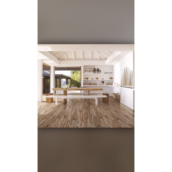 Old Village 5.9 x 31.5 Ceramic Wood Look Tile in Rustic Mocha by Christina & Son