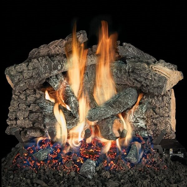 Bedford Char Vented Natural Gas/Propane Fireplace Log Set By HargroveGasLogs
