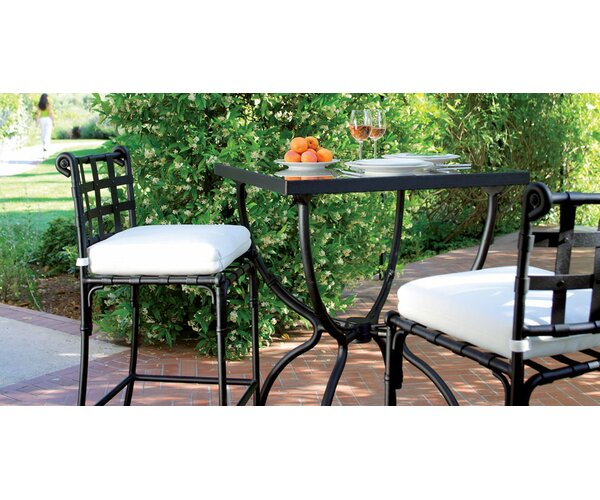 Aikens 3 Piece Bistro Set with Cushions by One Allium Way