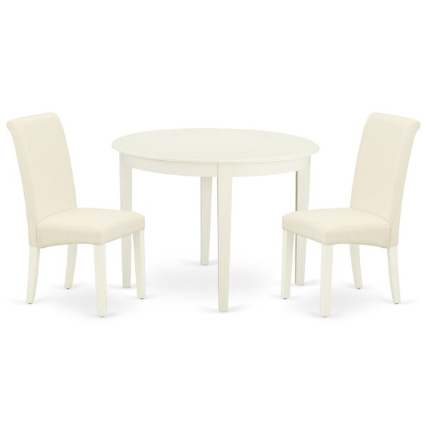 Hanningt 3 Piece Solid Wood Dining Set by Winston Porter Winston Porter
