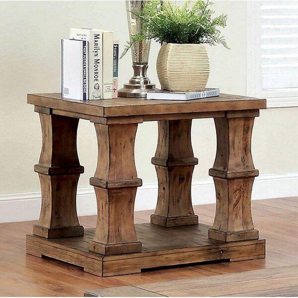 Powersville Solid Wood Floor Shelf End Table by Loon Peak Loon Peak