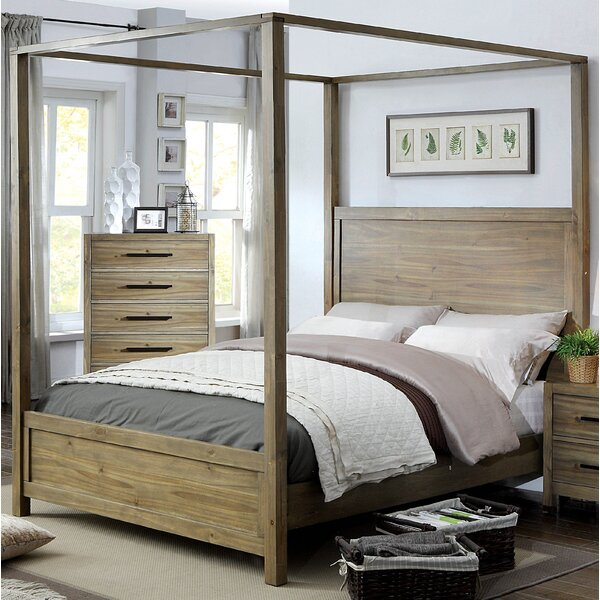 Peres Four Poster Bed by Union Rustic