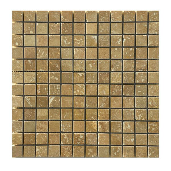 Honed 1 x 1 Natural Stone Mosaic Tile in Noce by QDI Surfaces