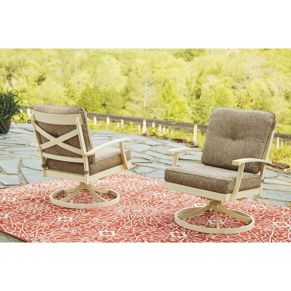 Farzana Swivel Patio Chair with Cushions (Set of 2) by Gracie Oaks