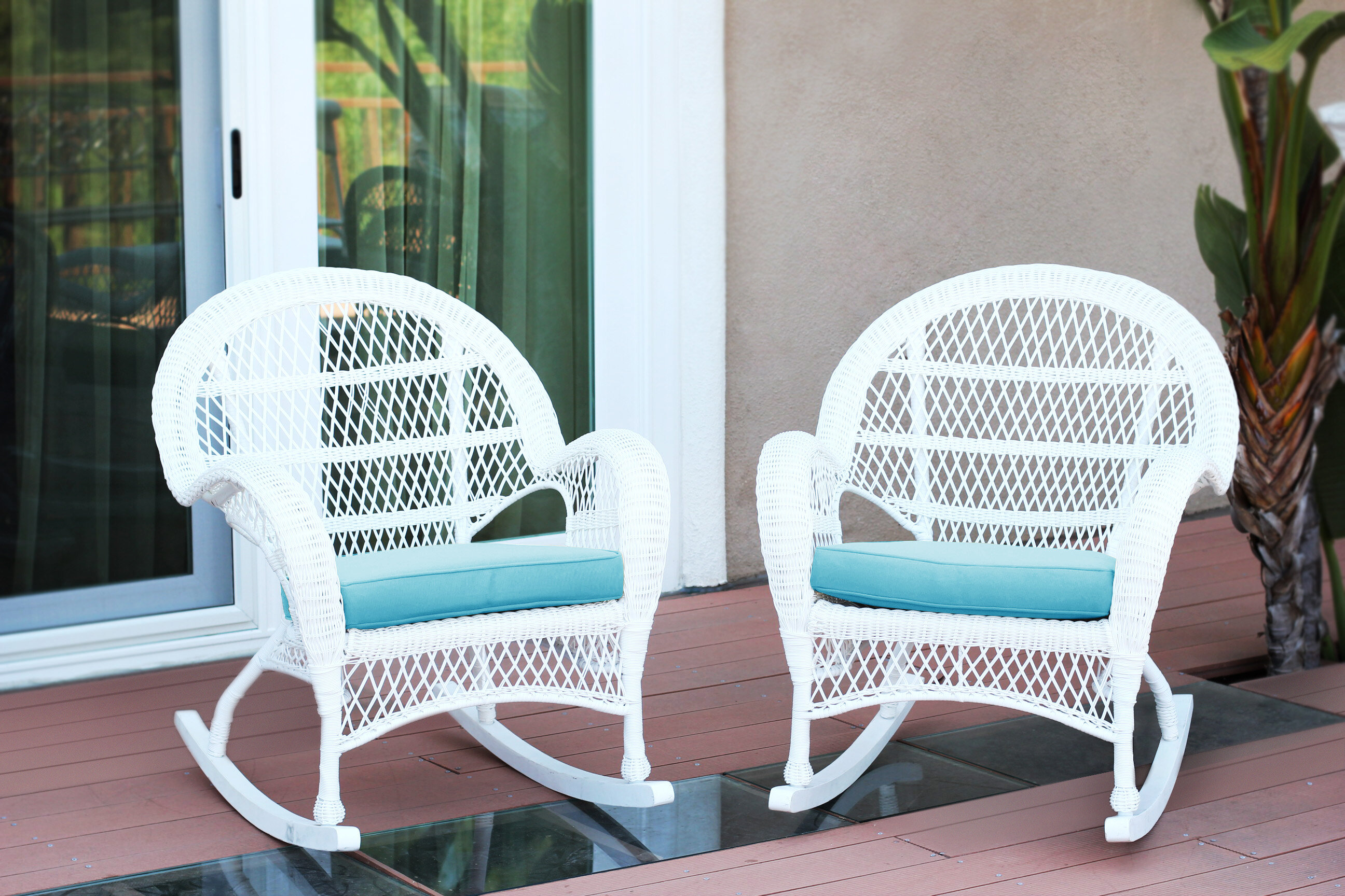Darby Home Co Berchmans Wicker Rocker Chair with Cushions & Reviews ...