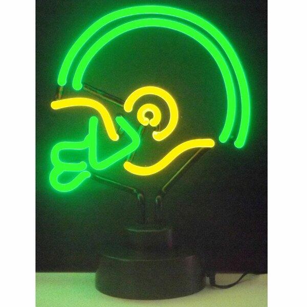 Football Helmet Neon Sign by Neonetics