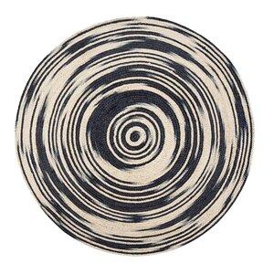 Calle Handmade Black/Tan Area Rug