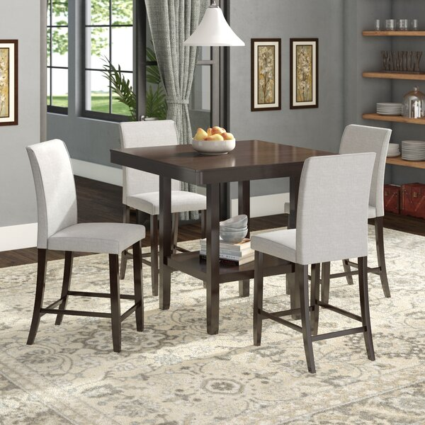 Keefe 5 Piece Solid Wood Dining Set By Red Barrel Studio
