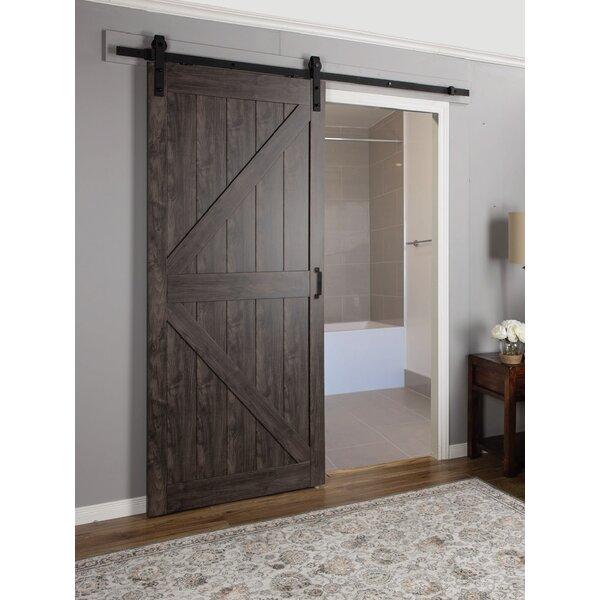 Erias Home Designs Continental Mdf Engineered Wood 1 Panel Interior Barn Door Reviews Wayfair