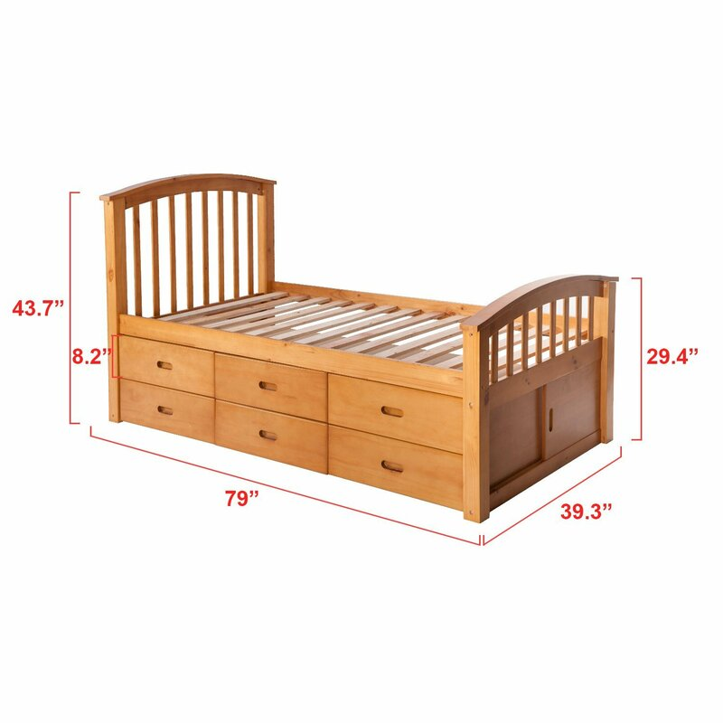 defaultname - Solid Wood Platform Bed
